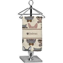 Hipster Cats Finger Tip Towel - Full Print (Personalized)