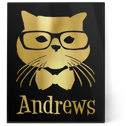 Hipster Cats 8x10 Foil Wall Art - Black (Personalized)