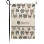Hipster Cats Garden Flag (Personalized)