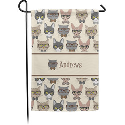 Hipster Cats Garden Flag - Single or Double Sided (Personalized)