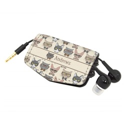 Hipster Cats Genuine Leather Cord Wrap (Personalized)