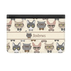 Hipster Cats Genuine Leather ID & Card Wallet - Slim Style (Personalized)