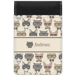 Hipster Cats Genuine Leather Small Memo Pad (Personalized)