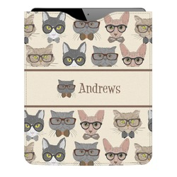 Hipster Cats Genuine Leather iPad Sleeve (Personalized)