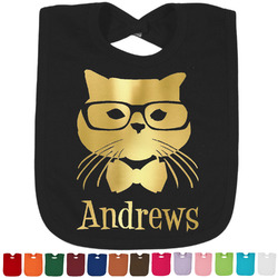 Hipster Cats Foil Toddler Bibs (Select Foil Color) (Personalized)