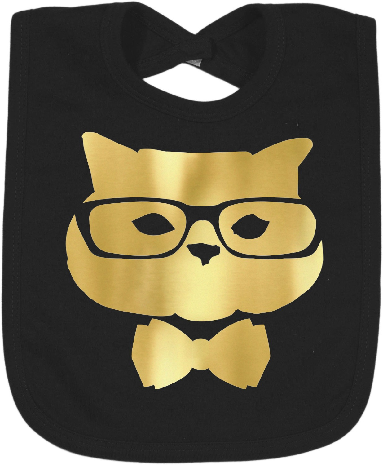 hipster cats foil toddler bibs select foil color. Black Bedroom Furniture Sets. Home Design Ideas
