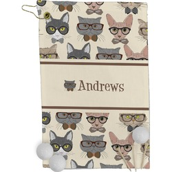 Hipster Cats Golf Towel - Full Print (Personalized)