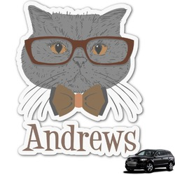 Hipster Cats Graphic Car Decal (Personalized)