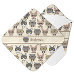 Hipster Cats Hooded Baby Towel (Personalized)