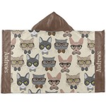 Hipster Cats Kids Hooded Towel (Personalized)