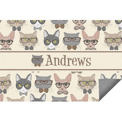 Hipster Cats Indoor / Outdoor Rug - 6'x9' (Personalized)