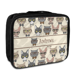 Hipster Cats Insulated Lunch Bag (Personalized)