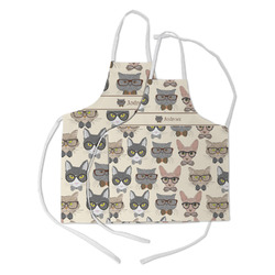 Hipster Cats Kid's Apron w/ Name or Text