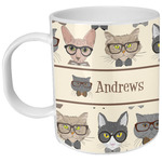Hipster Cats Plastic Kids Mug (Personalized)