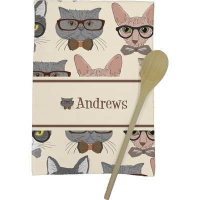 Hipster Cats Kitchen Towel - Full Print (Personalized)