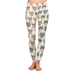 Hipster Cats Ladies Leggings (Personalized)