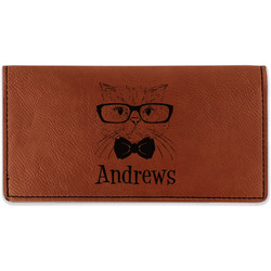Hipster Cats Leatherette Checkbook Holder (Personalized)