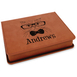 Hipster Cats Leatherette 4-Piece Wine Tool Set (Personalized)