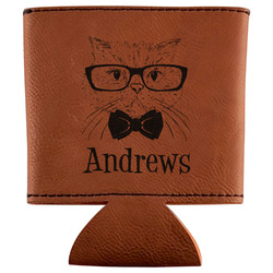 Hipster Cats Leatherette Can Sleeve (Personalized)