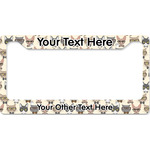 Hipster Cats License Plate Frame - Style B (Personalized)