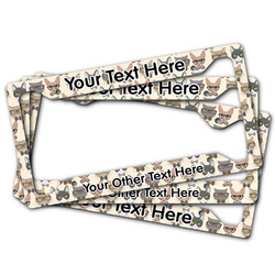 Hipster Cats License Plate Frame (Personalized)