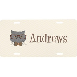 Hipster Cats Front License Plate (Personalized)