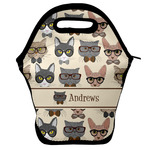 Hipster Cats Lunch Bag w/ Name or Text