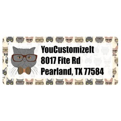 Hipster Cats Return Address Label (Personalized)