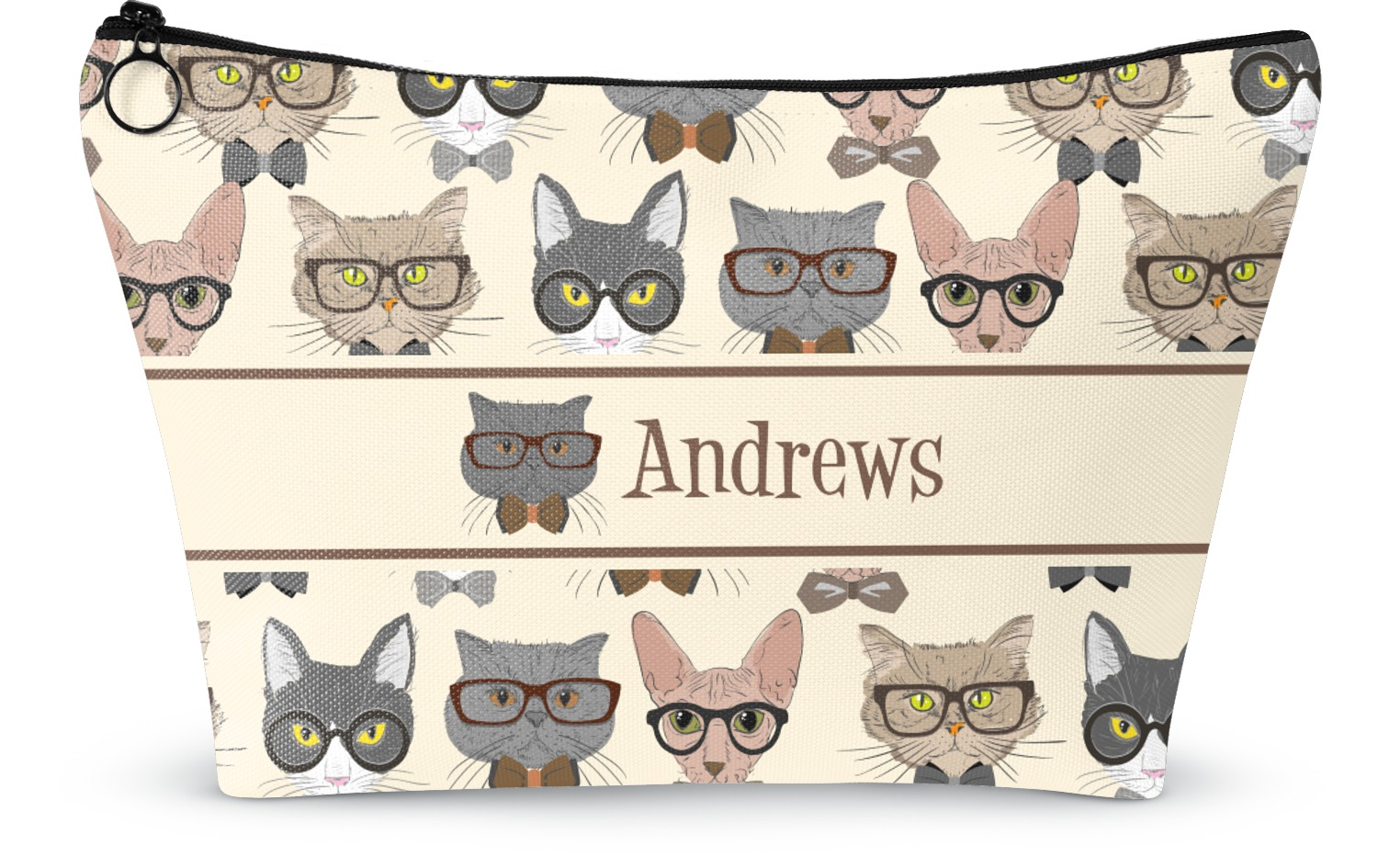 Hipster Cats Makeup Bags Personalized