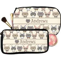 Hipster Cats Makeup / Cosmetic Bag (Personalized)