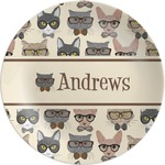 Hipster Cats Melamine Plate (Personalized)
