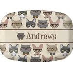 Hipster Cats Melamine Platter (Personalized)