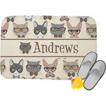 Hipster Cats Memory Foam Bath Mat (Personalized)