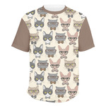 Hipster Cats Men's Crew T-Shirt (Personalized)