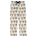 Hipster Cats Mens Pajama Pants (Personalized)