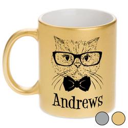 Hipster Cats Metallic Mug (Personalized)
