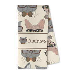 Hipster Cats Microfiber Kitchen Towel (Personalized)