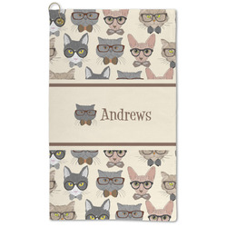 Hipster Cats Microfiber Golf Towel - Large (Personalized)