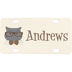 Hipster Cats Mini / Bicycle License Plate (Personalized)