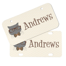Hipster Cats Mini/Bicycle License Plates (Personalized)