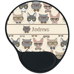 Hipster Cats Mouse Pad with Wrist Support