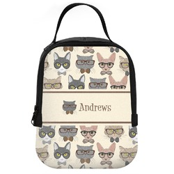Hipster Cats Neoprene Lunch Tote (Personalized)