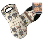 Hipster Cats Neoprene Oven Mitt (Personalized)