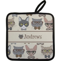 Hipster Cats Pot Holder (Personalized)