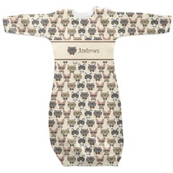 Hipster Cats Newborn Gown - 3-6 (Personalized)
