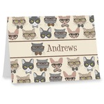 Hipster Cats Note cards (Personalized)