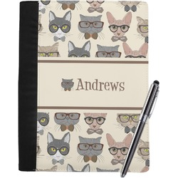 Hipster Cats Notebook Padfolio (Personalized)