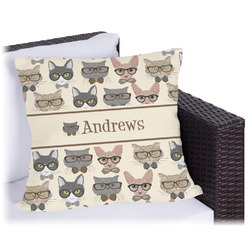 Hipster Cats Outdoor Pillow (Personalized)