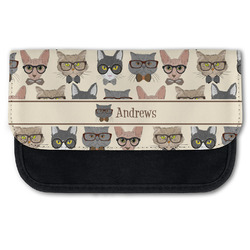 Hipster Cats Canvas Pencil Case w/ Name or Text
