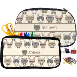 Hipster Cats Pencil / School Supplies Bag (Personalized)